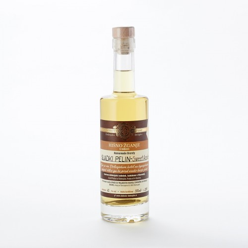 Hišno žganje s sladkim pelinom (100 ml, 350 ml ali 500 ml)