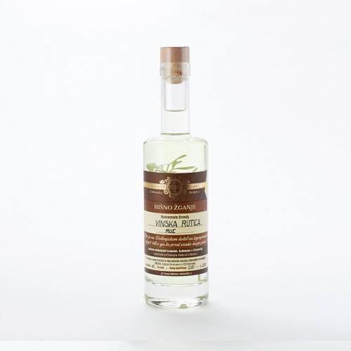 Hišno žganje z vinsko rutico (50 ml, 100 ml, 350 ml ali 500 ml)