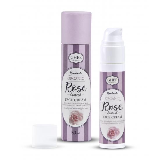 BIO ROSE damask- hranilno vlažilna krema za obraz-Naravna kozmetika