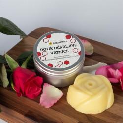 Dotik očarljive vrtnice - mazilo in masažna ploščica s čebeljim voskom 50 g