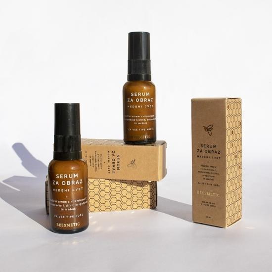 Vlažilni serum za obraz - medeni cvet 30 ml-Naravna kozmetika