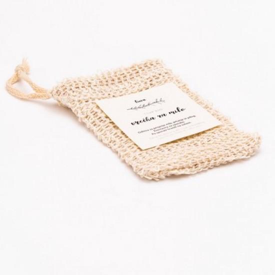 Platnena vrečka za shranjevanje mila in za piling-Naravna kozmetika