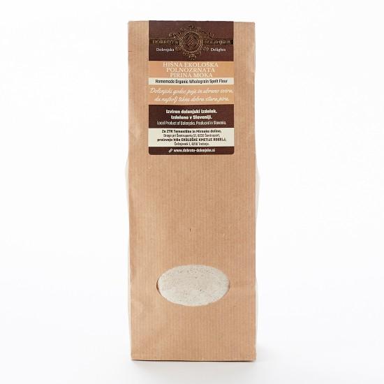 Hišna ekološka polnozrnata pirina moka 0,5 kg -Žitni izdelki in testenine