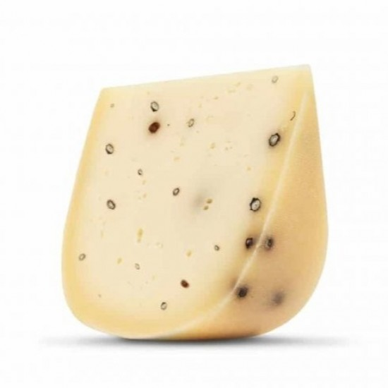 Hišni ekološki poltrdi sir s poprom - Poprov'c