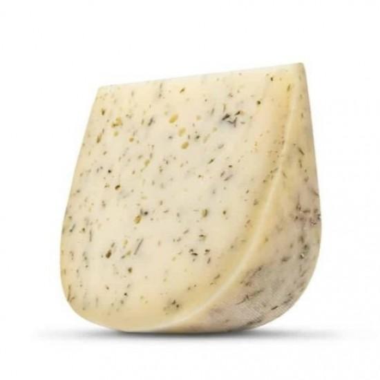Hišni ekološki poltrdi sir z zelišči - Zeliščar-Siri