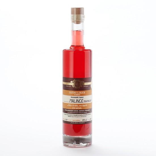Hišni malinov liker (100 ml, 350 ml ali 500 ml)