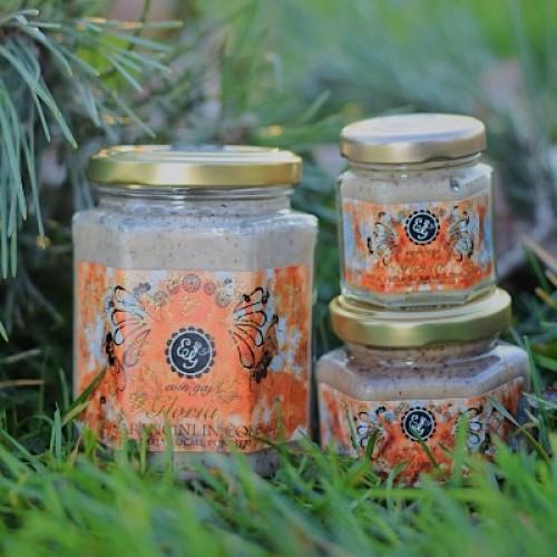 Gloria - ekološki kremni med z dodatkom arancinov in temne čokolade (45 g, 100 g ali 190 g)