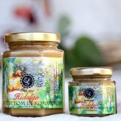 Hidalgo - ekološki kremni med z dodatkom cimeta in koriandra (45 g, 100 g ali 190 g)