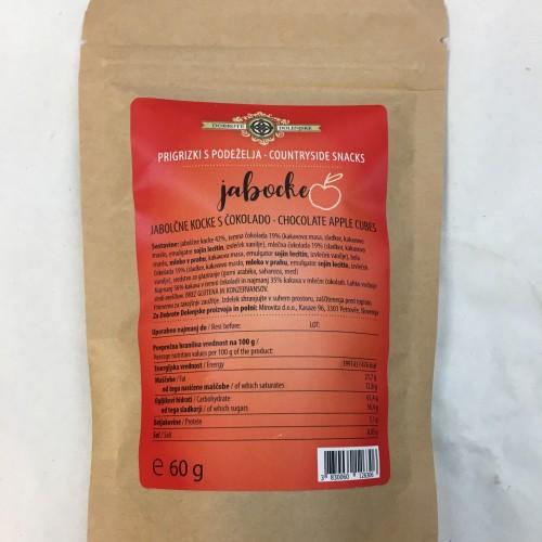 Jabocke - jabolčne kocke oblite s čokolado 60 g