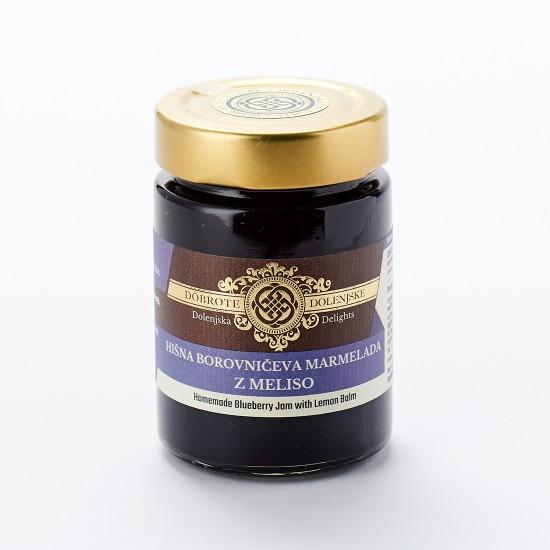 Hišna borovničeva marmelada z meliso 190 g-Marmelade