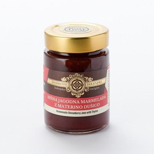 Hišna jagodna marmelada z materino dušico 190 g