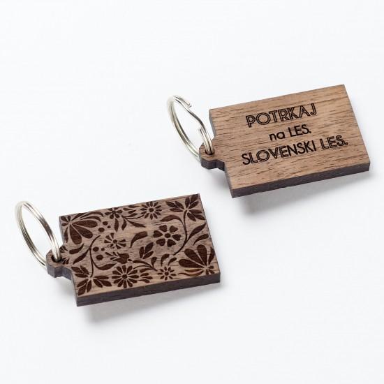 Lesen obesek Fastwood - lipov list ali pravokotnik z nageljnom-Leseni nakit in obeski