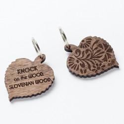 Lesen obesek Fastwood - lipov list ali pravokotnik z nageljnom
