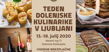 Teden dolenjske kulinarike v Ljubljani 2020