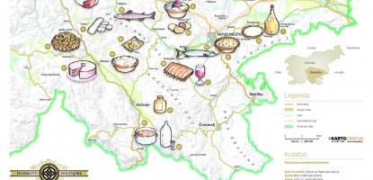 Okusi Dolenjske - prvi regionalni kulinarični zemljevid v Sloveniji
